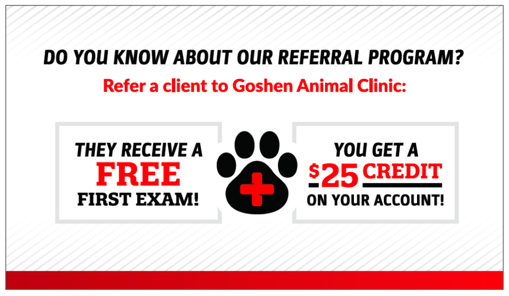 Goshen Animal Clinic Referral Program